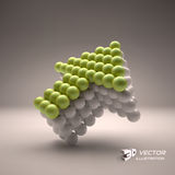 Spheres forming an arrow. Business concept Royalty Free Stock Images