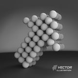 Spheres forming an arrow. Business concept Stock Images