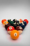 Spheres for game in billiards Stock Image