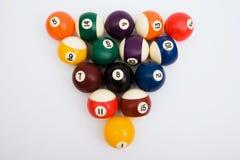 Spheres for game in billiards stock image
