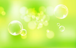 Spheres on green background. Royalty Free Stock Images