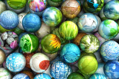 Spheres with images stock illustration