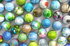 Spheres with images royalty free illustration