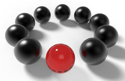 Spheres leader concept Royalty Free Stock Images