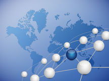Spheres link network connection Stock Photo