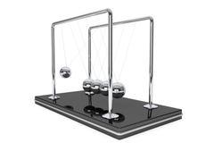 Spheres of Newton. Perpetual motion concept. Spheres of Newton on a white background Royalty Free Stock Image