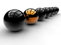 Spheres odd man out concept Stock Photo