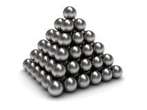 Spheres pyramid Stock Photography