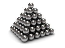 Spheres pyramid Stock Photography