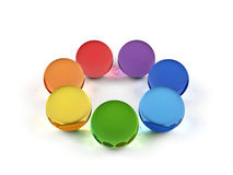 Spheres in rainbow colors. Royalty Free Stock Photo