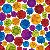 Spheres seamless pattern. Stock Image
