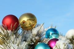 Spheres on snow Stock Image