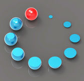 Spheres Sphere Means Round Orbs And Growth Royalty Free Stock Image