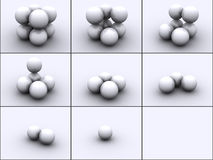 Spheres in steps Stock Photography