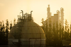 Spheres tank gas at dayspring Stock Image