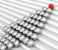 Spheres Teamwork Indicates Leader Ball And Spherical Royalty Free Stock Photography