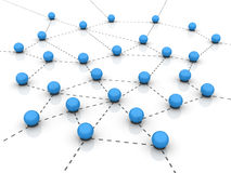 Spheres Teamwork - Network. Three dimensional illustration of Spheres and Network Concept Stock Photo