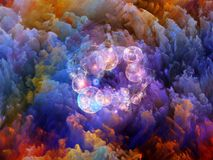 Spheres of Unreal. Dream Surface series. Artistic background made of Colorful fractal clouds and graphic elements for use with projects on dreams, spirituality Stock Photography