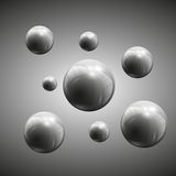 Spheres vector illustration. 3d spheres on gray background vector illustration Royalty Free Stock Photo