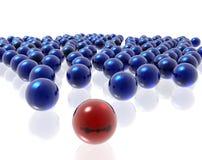 Spheres on the white backgroun Royalty Free Stock Photos