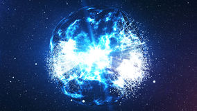 Spheri Big Bang explosion in the universe Royalty Free Stock Photo