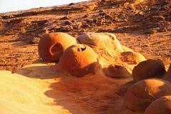 Spheric вулканическое образование на Limnos Стоковые Фото