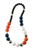 Spheric beads necklace Stock Photo