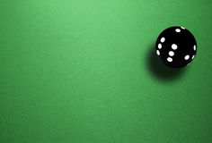 Spheric dice. Isolated spheric ball black dice Stock Image