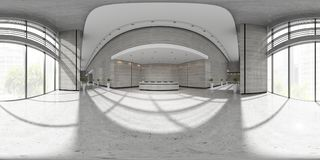 Free Spherical 360 Panorama Projection Interior Of Reception 3D Illustration Royalty Free Stock Images - 107660839