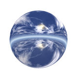 Spherical 3D button Royalty Free Stock Image
