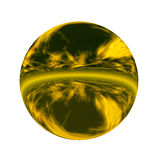 Spherical 3D button Royalty Free Stock Photos