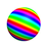 Spherical 3D button. Extremely high resolution 3D sphere rendered at maximum quality Royalty Free Stock Image