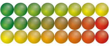 Spherical aqua buttons Stock Image