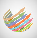 Spherical arrows Royalty Free Stock Photography
