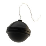 Spherical bomb isolated on white. Spherical black bomb isolated on white Royalty Free Stock Photos