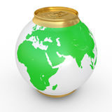 Spherical can of beer Royalty Free Stock Image