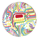 Spherical circuit Royalty Free Stock Image