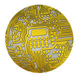 Spherical circuit Royalty Free Stock Photo