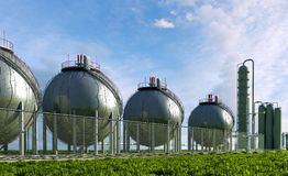 Spherical container Stock Photo