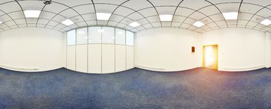 Spherical 360 degrees panorama projection, panorama in interior empty room in modern flat apartments. Spherical 360 degrees panorama projection, panorama in Stock Image