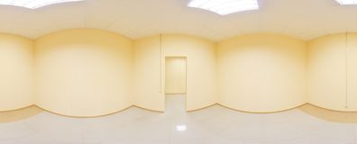 Spherical 360 degrees panorama projection, panorama in interior empty room in modern flat apartments. Spherical 360 degrees panorama projection, panorama in Stock Photography