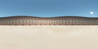 Spherical 360 degrees seamless panorama with the Colosseum in ancient Rome Royalty Free Stock Image