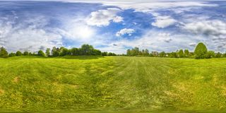 A Spherical 360 degrees seamless panorama view in equirectangular projection, panorama of natural landscape in Germany. VR content. Spherical 360 degrees stock photography