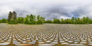 A Spherical 360 degrees seamless panorama view in equirectangular projection, panorama of natural landscape in Germany. VR content. Spherical 360 degrees royalty free stock photos