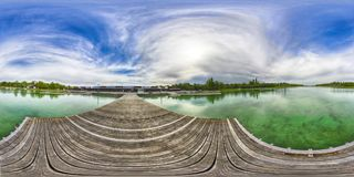 A Spherical 360 degrees seamless panorama view in equirectangular projection, panorama of natural landscape in Germany. VR content. Spherical 360 degrees stock images