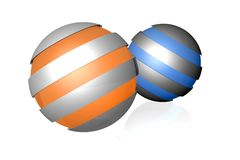 Spherical design elements Royalty Free Stock Photo