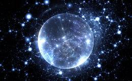 Spherical energetic quantum bubble. Illustration vector illustration