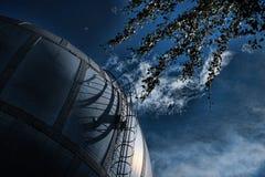 Spherical gas jar Stock Photo