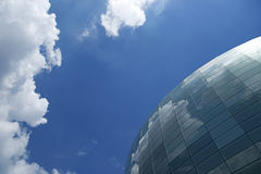 Spherical glass facade Stock Photos
