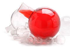 Spherical glassware Stock Photo